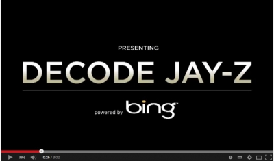 DECODE JAY-Z with Bing campaign